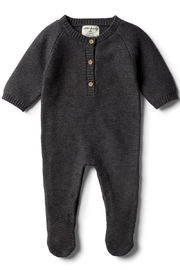 Wilson and Frenchy Knitted Footed Romper - Product Mini Image