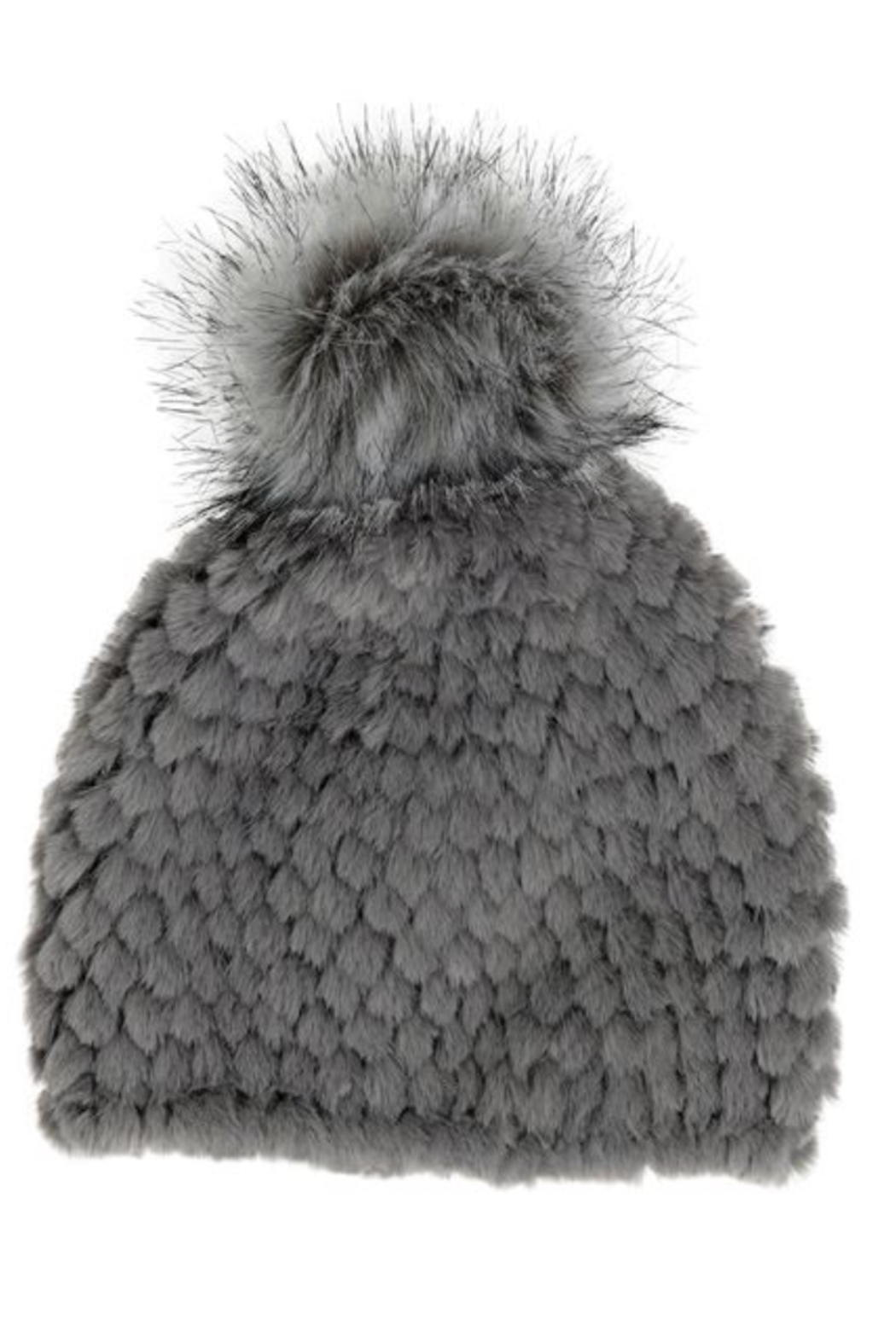 Fabulous Furs Knitted Fur Pom Hat - Side Cropped Image