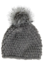 Fabulous Furs Knitted Fur Pom Hat - Side cropped