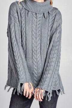Shoptiques Product: Knitted Grey Top