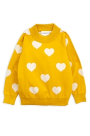 Mini Rodini Knitted Heart Sweater - Front cropped