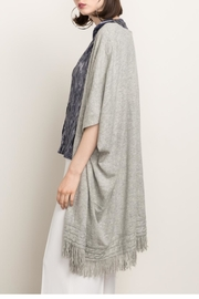 Cashmere N Tee Knitted Long Cardigan - Product Mini Image
