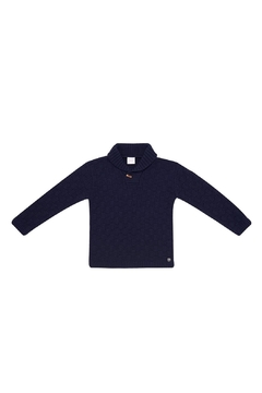 Shoptiques Product: Knitted Navy Sweater.