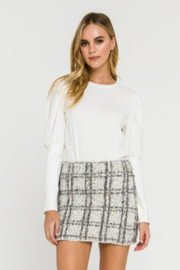 Endless Rose Knitted Puff Top - Product Mini Image