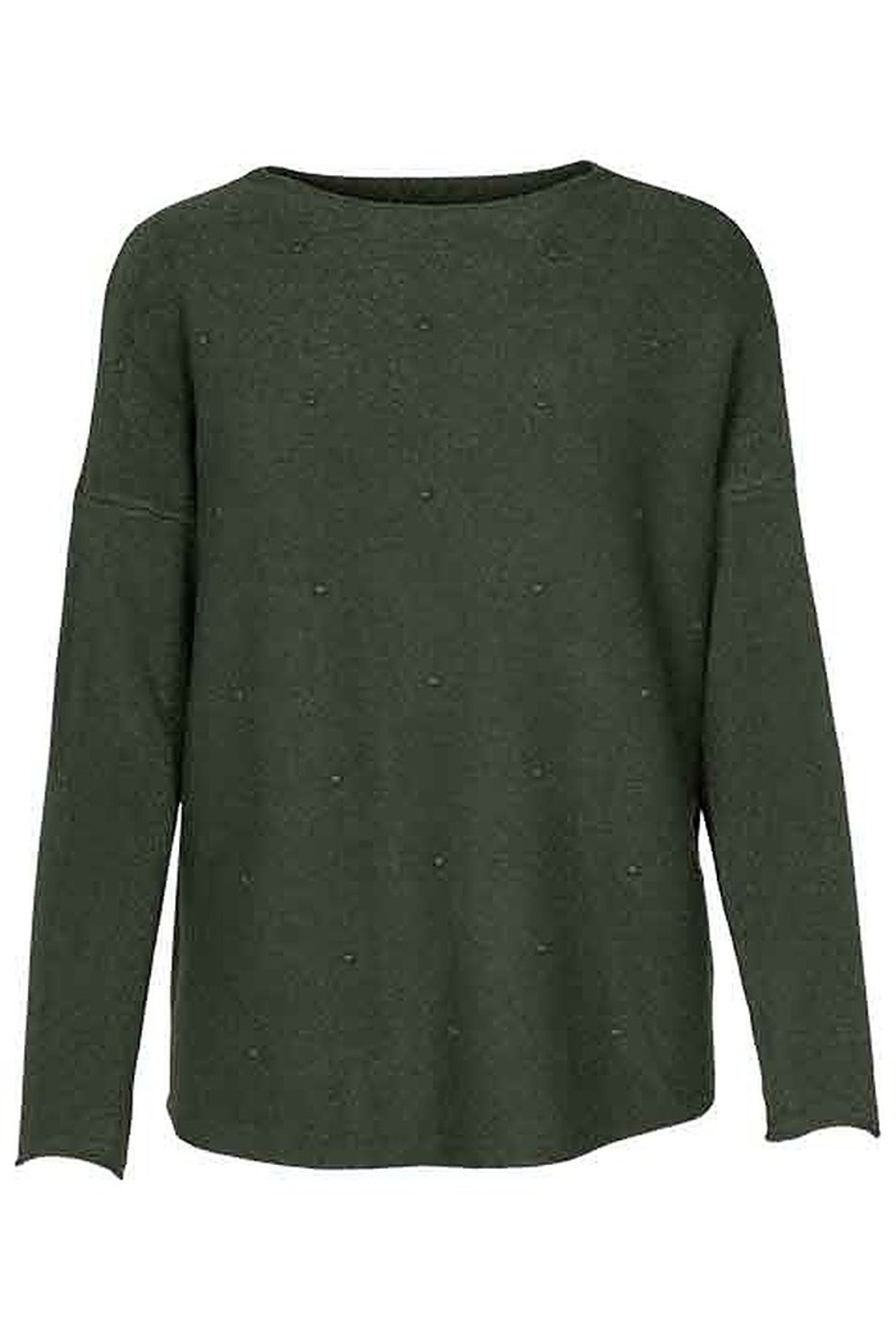 M made in Italy Knitted Sweater with Dots - Front Cropped Image