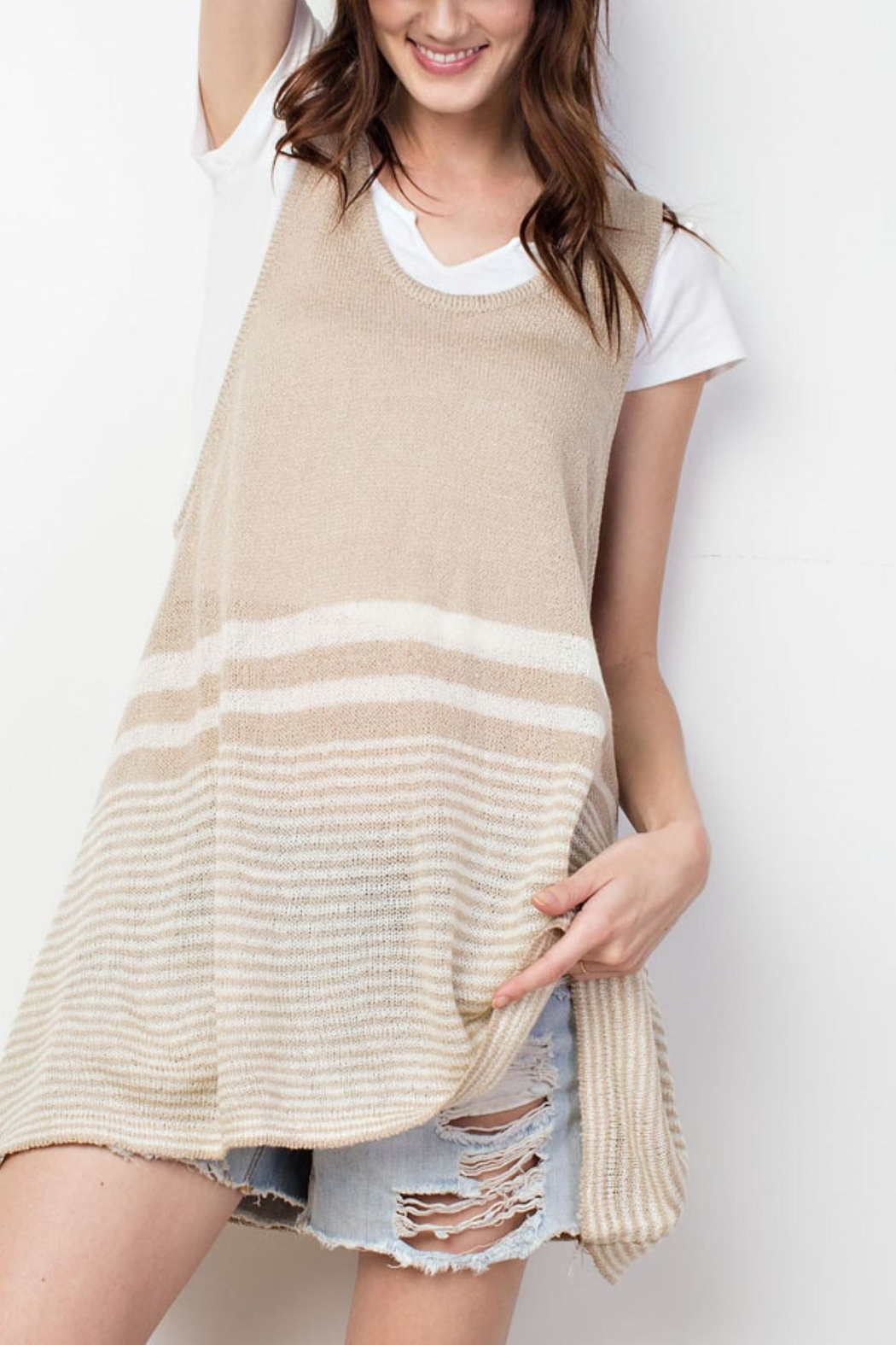 easel Knitted Tank Top - Main Image