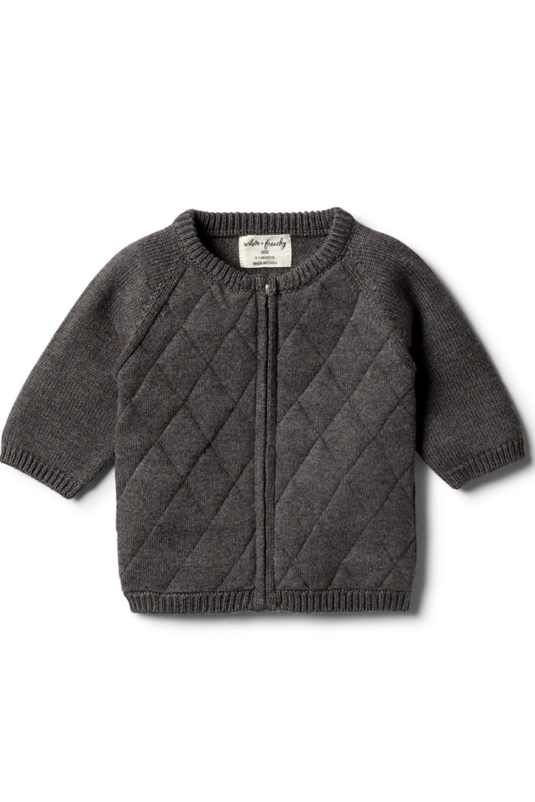 Wilson and Frenchy Knitted Zip Up Cardigan - Main Image