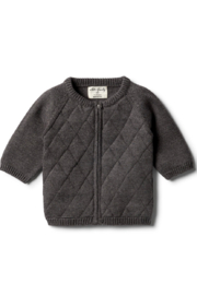Wilson and Frenchy Knitted Zip Up Cardigan - Front cropped