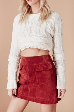 Knitz For Love & Lemons Greenwich Crop Top - Product List Image