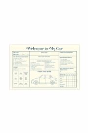 Knock Knock  Car Guest Book - Front full body