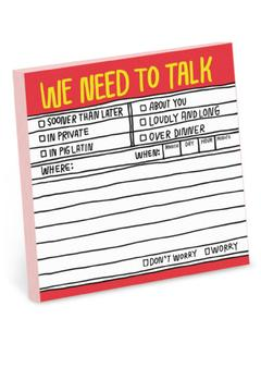 Shoptiques Product: Need-To-Talk Sticky Notes