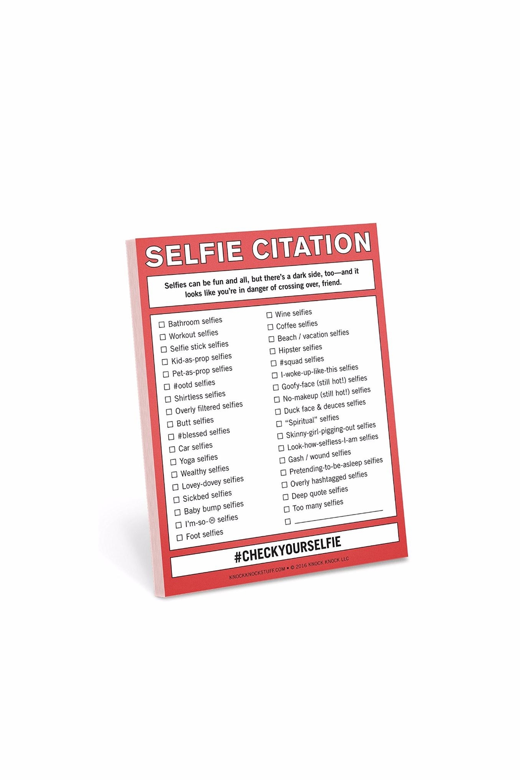 Knock Knock  Selfie Citations - Main Image