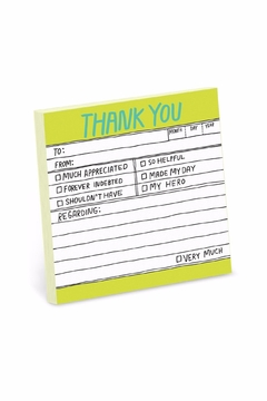 Knock Knock  Thank You Stickies - Alternate List Image