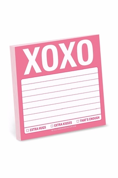 Knock Knock  Xoxo Sticky Notes - Alternate List Image