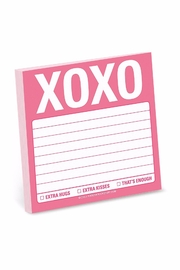 Knock Knock  Xoxo Sticky Notes - Product Mini Image