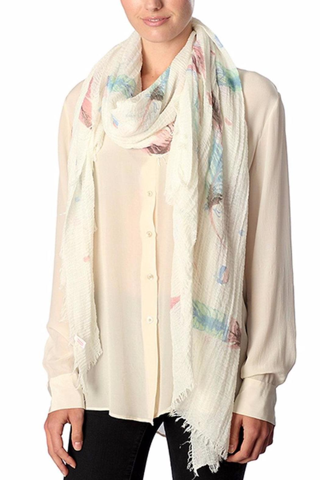 knock knock boutique feather watercolor scarf from