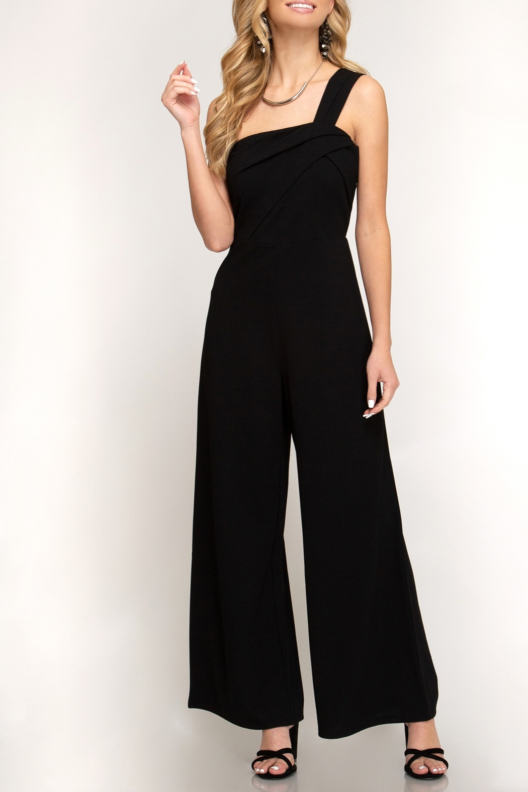 She + Sky Knockout Babe Jumpsuit - Front Cropped Image
