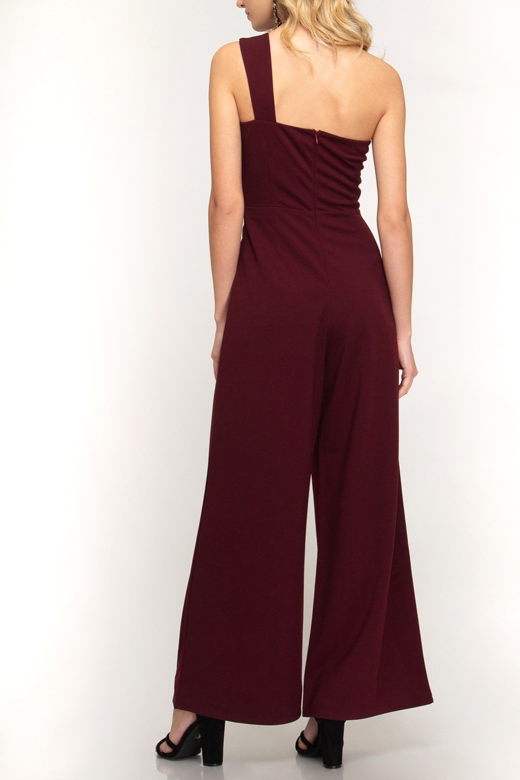 She + Sky Knockout Babe Jumpsuit - Front Full Image