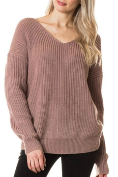 Love Tree Knot Back Sweater - Product List Image