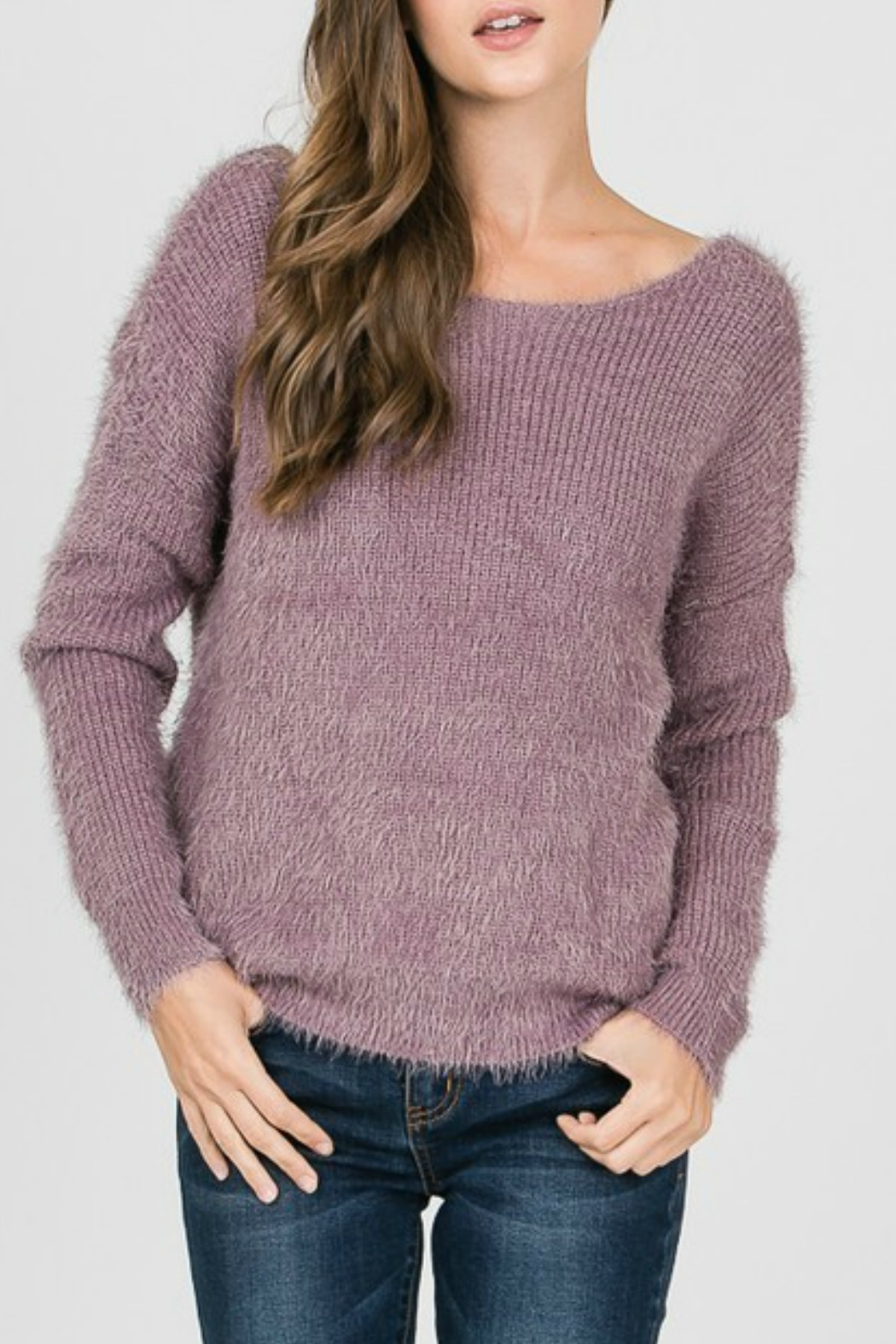 1 Style Knot Back Sweater - Front Cropped Image