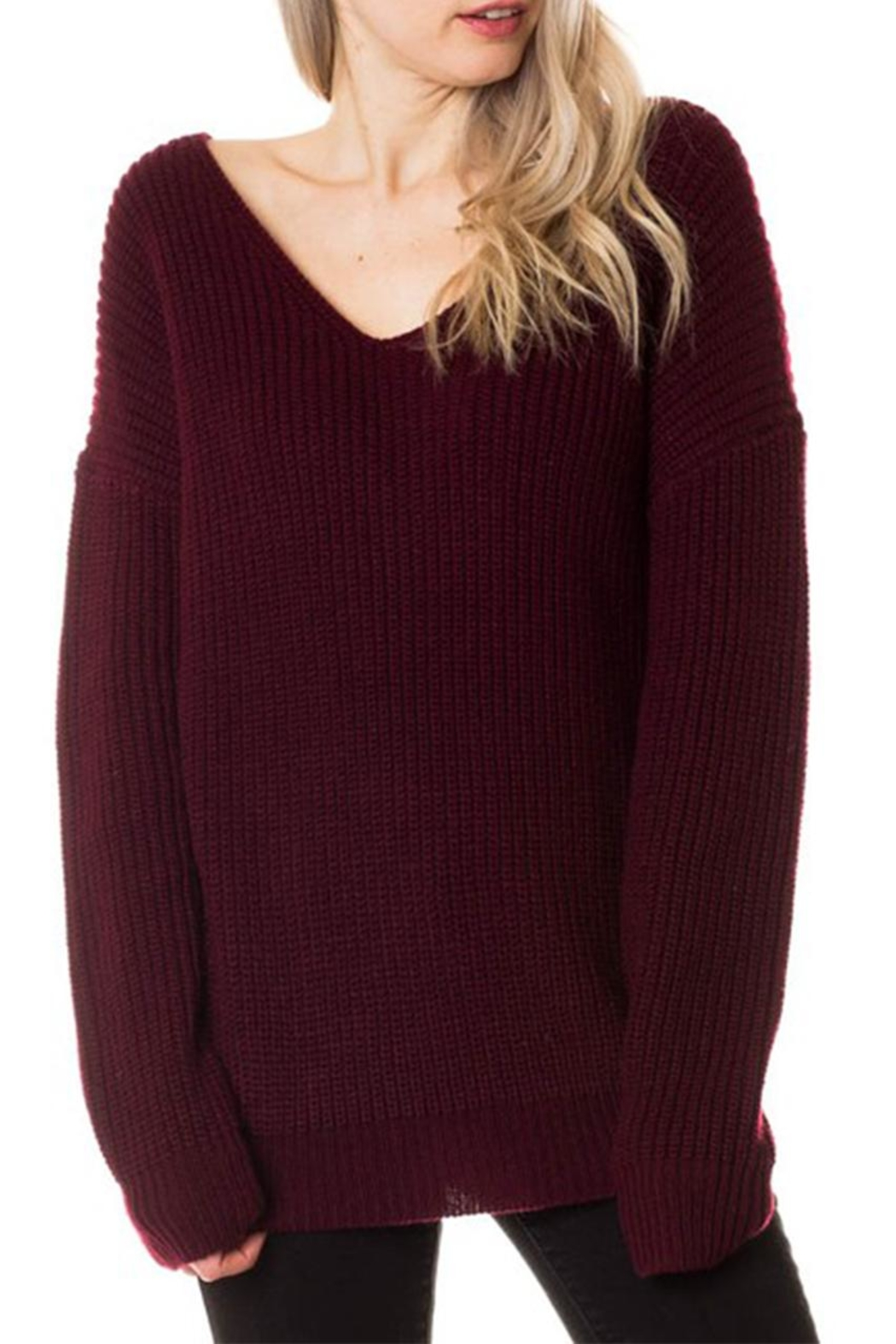 love tree knot back sweater from new york by dor l dor shoptiques