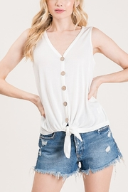 Lyn -Maree's Knot & Button Front Tank - Front cropped