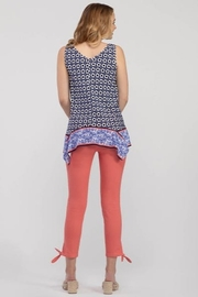 Tribal  Knot Detail Crop Pant - Front full body