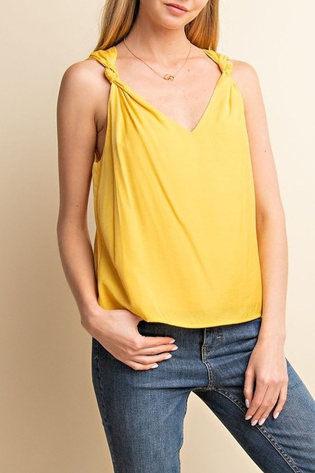 Gilli Knot Detail Tank - Front Cropped Image