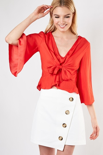 4ab1e77e772e Do & Be Knot Front Blouse from New York by Dor L'Dor — Shoptiques
