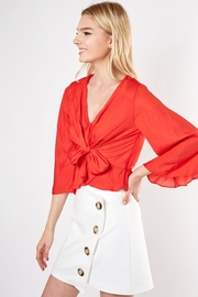 Do & Be Knot Front Blouse - Front full body
