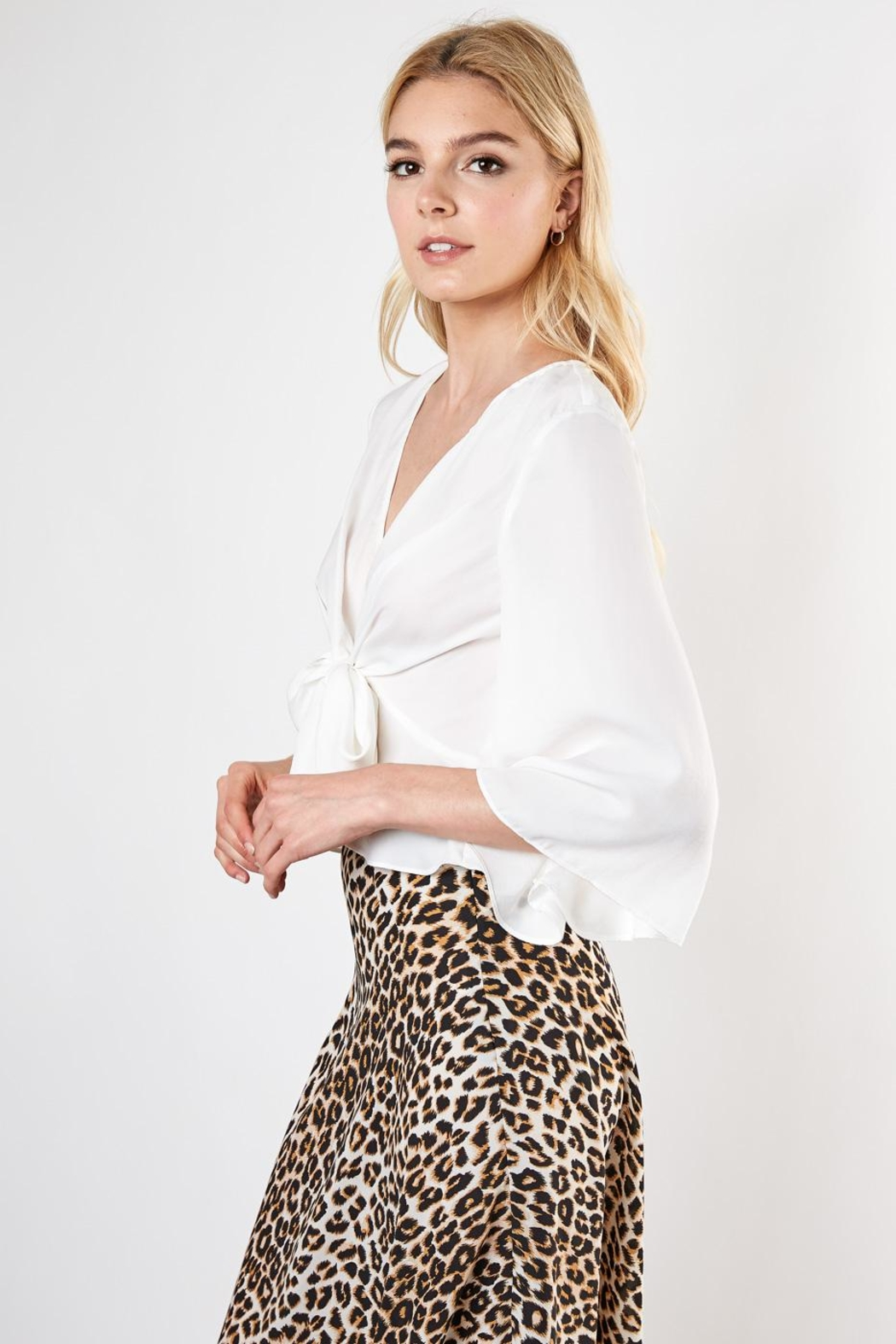 Do & Be Knot Front Blouse - Front Full Image