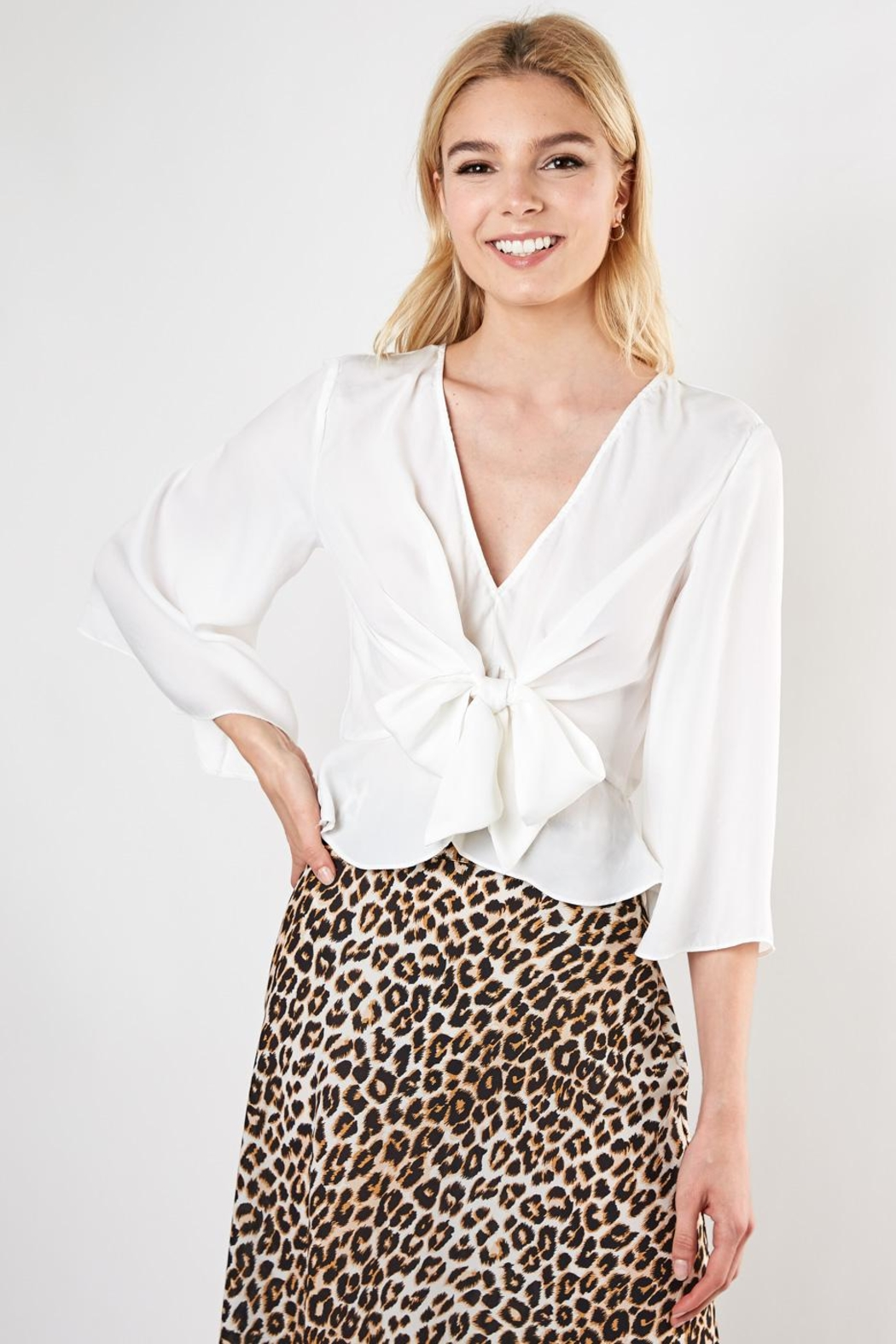 Do & Be Knot Front Blouse - Front Cropped Image