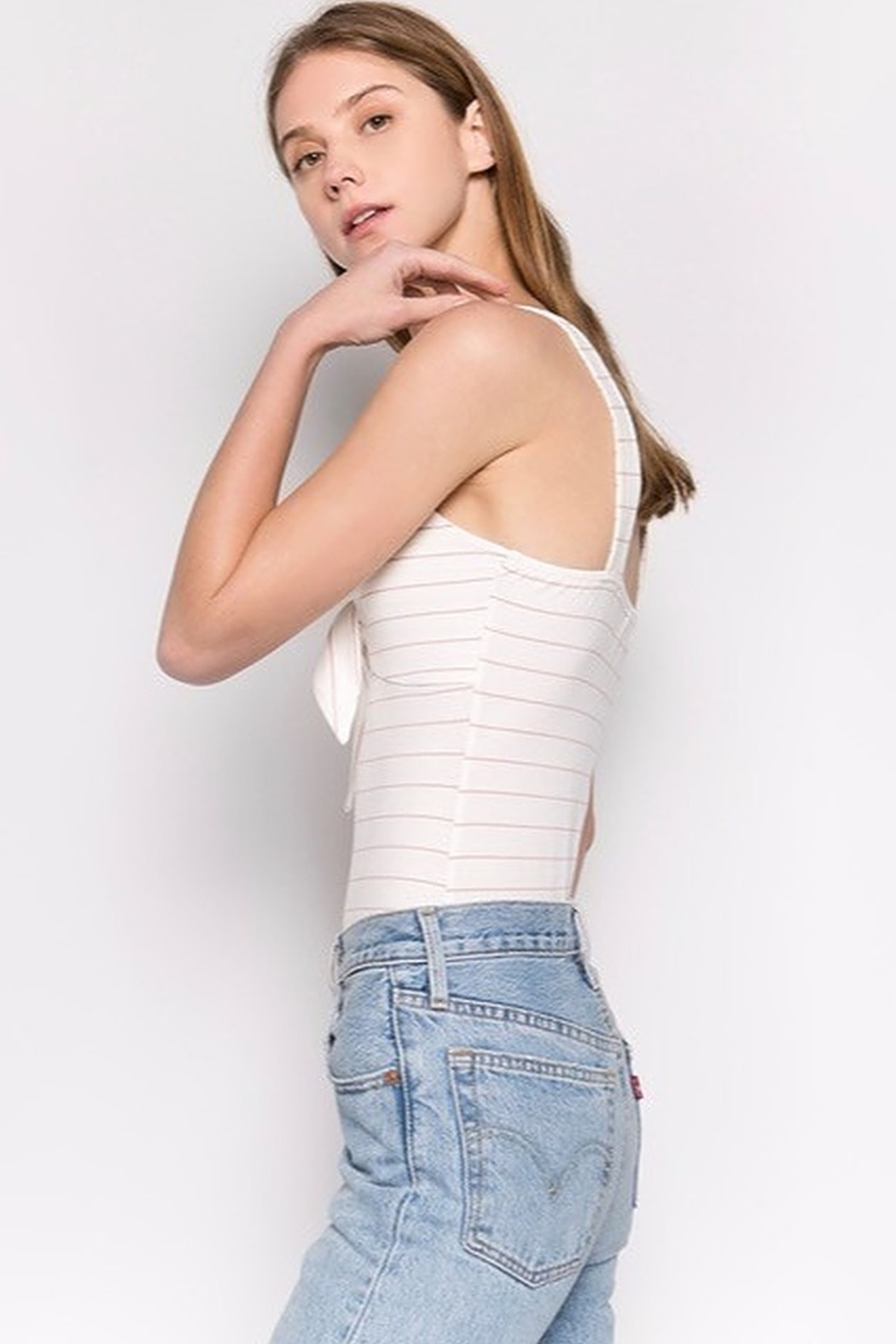 Fore Collection Knot Front Bodysuit - Side Cropped Image