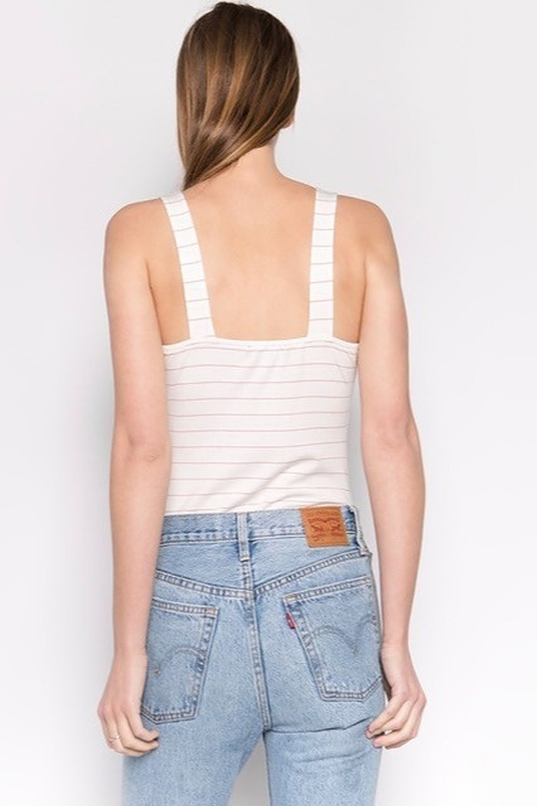 Fore Collection Knot Front Bodysuit - Back Cropped Image