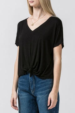 Double Zero Knot-Front Crop Tee - Product List Image