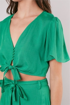 Mustard Seed Knot-Front Cropped Top - Alternate List Image