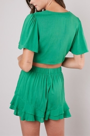 Mustard Seed Knot-Front Cropped Top - Side cropped