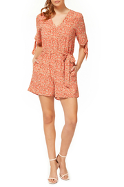 Dex Knot Front Printed Romper - Product Mini Image
