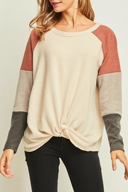 Entro Knot Front Pullover - Product Mini Image