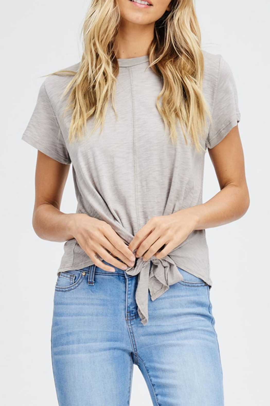 Jolie Knot Front Tee - Front Cropped Image
