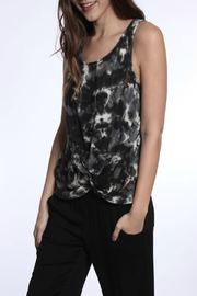 River + Sky  Knot Front Tie Dye Tank - Product Mini Image