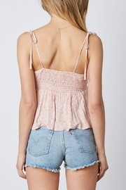 Cotton Candy LA Knot Front Top - Back cropped