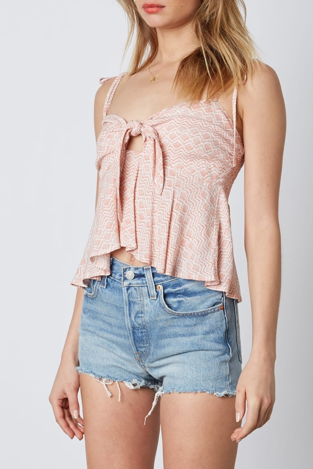 Cotton Candy LA Knot Front Top - Side Cropped Image
