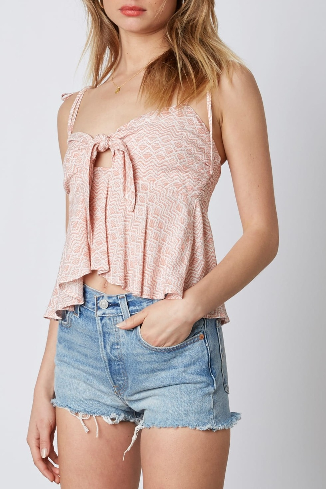 Cotton Candy LA Knot Front Top - Front Full Image