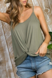 Main Strip Knot Me Cami - Front full body