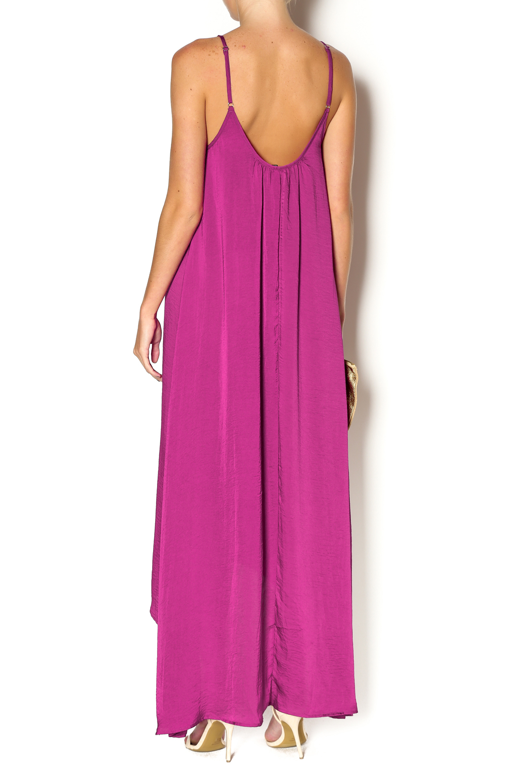 Knot Sisters Magenta Maxi - Back Cropped Image