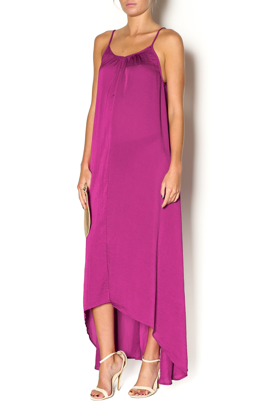 Knot Sisters Magenta Maxi - Front Cropped Image