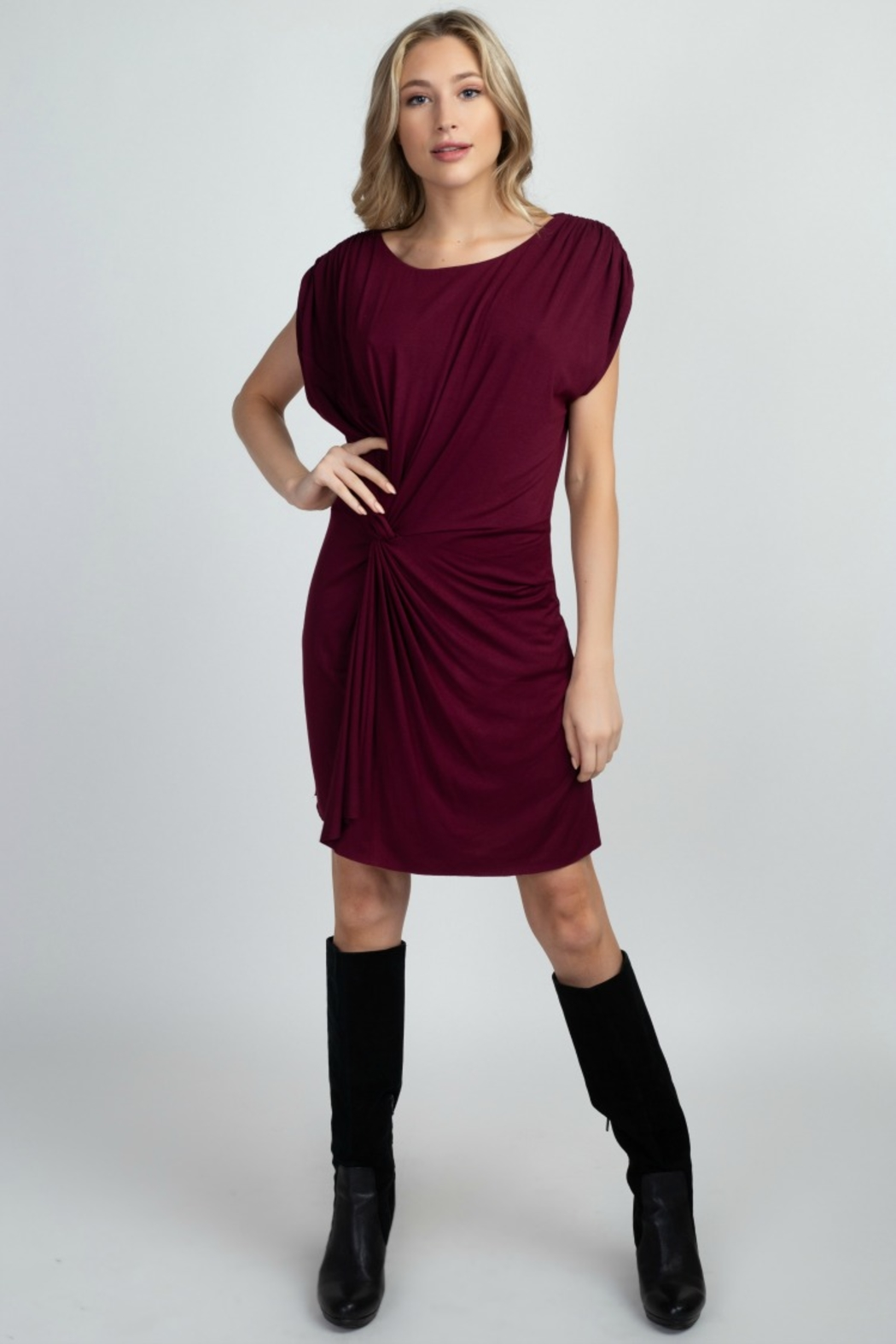 Olivia Graye KNOT SO NAUGHTY DRESS - Front Cropped Image