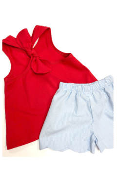 Shoptiques Product: Knot Top with Scallop Shorts