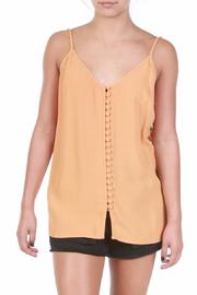 Knot Sisters Apricot Button Tank - Product Mini Image